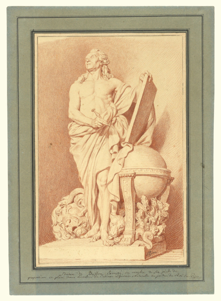 Augustin Pajou:Monument to Buffon,16x12