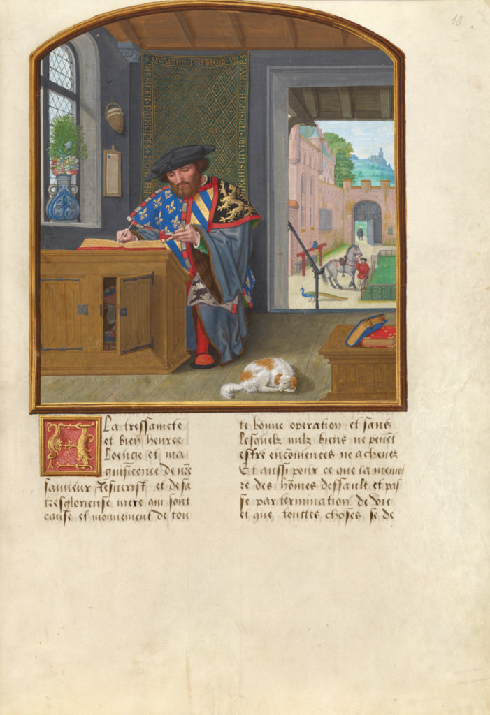 Simon Bening:The King of Arms of the Order of the Golden Fle,16x12