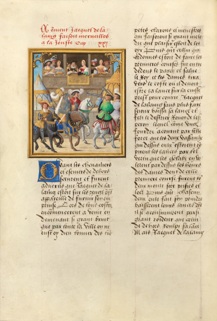 Master of the Getty Lalaing:Jacques de Lalaing Arriving at a,16x12