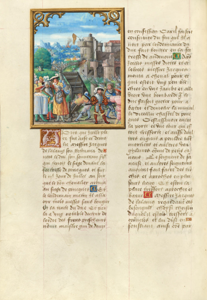 Master of the Getty Lalaing:The Death of Jacques de Lalaing ,16x12