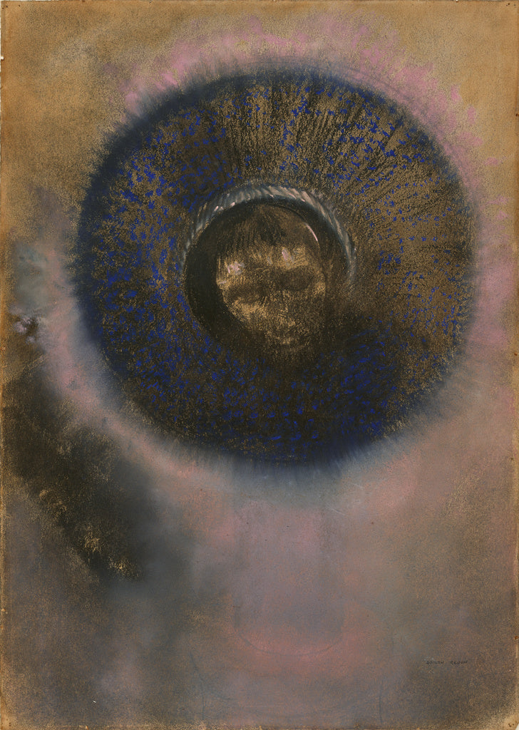 Odilon Redon:Head within an Aureole,16x12