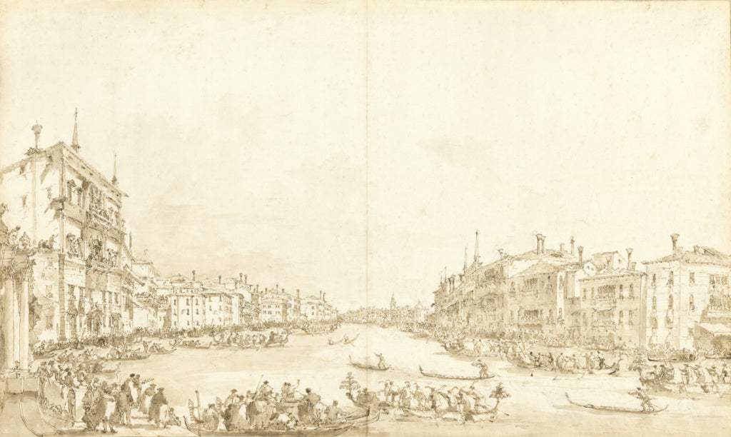 "Francesco Guardi:A Regatta on the Grand Canal,16x12""(A3)Poster"