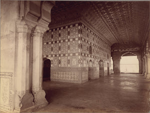 "Lala Deen Dayal:Interior of Sheesh Mahal - Amber,16x12""(A3)Poster"