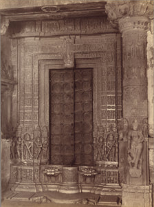 "Lala Deen Dayal:Marble Carved Doorway of a Ruined Temple - A,16x12""(A3)Poster"