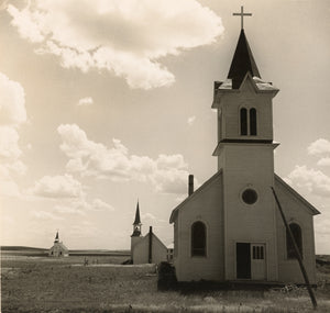 "Dorothea Lange:Three Churches of the High Plains, near Winne,16x12""(A3)Poster"
