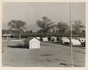 "Dorothea Lange:View of Kern migrant camp, community center a,16x12""(A3)Poster"