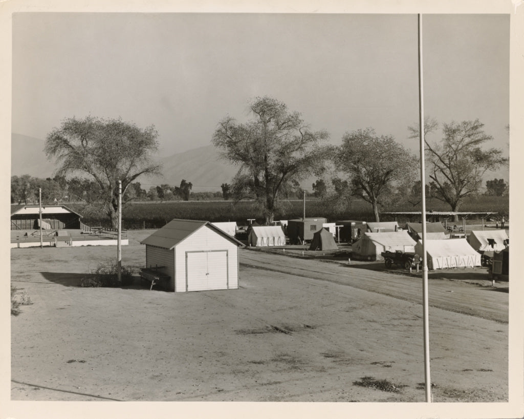 Dorothea Lange:View of Kern migrant camp, community center a,16x12