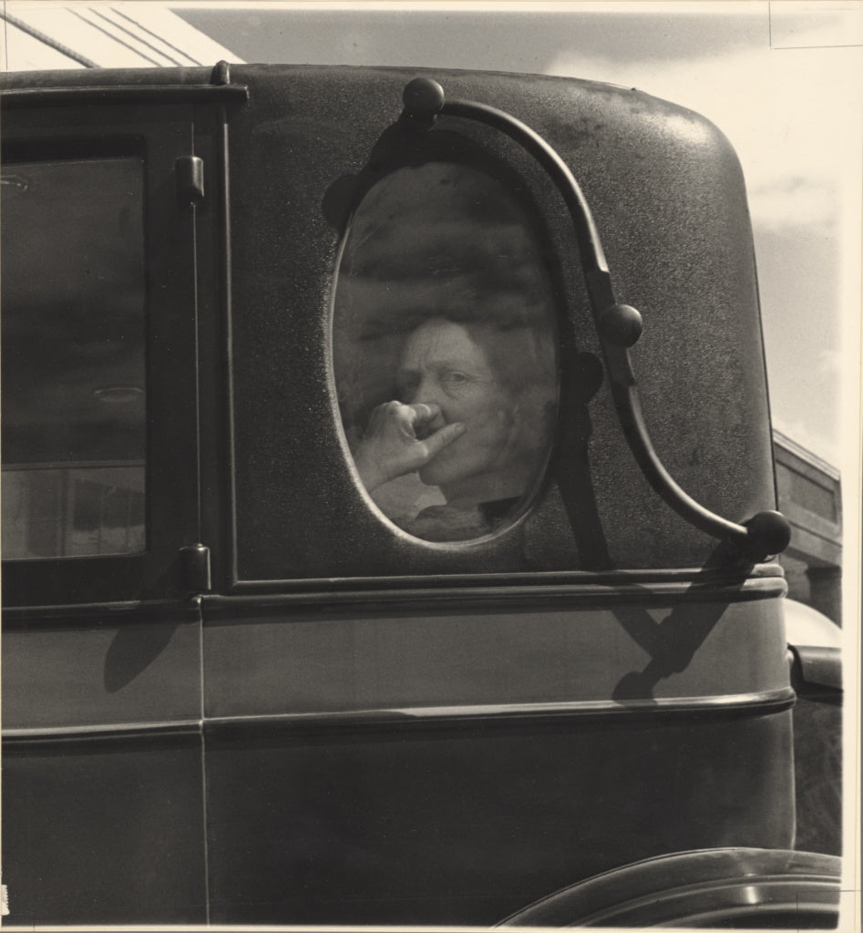 Dorothea Lange:Funeral Cortege, End of an Era in a Small Val,16x12