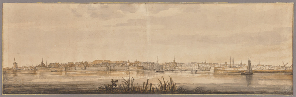 "Aelbert Cuyp:Panoramic View of Dordrecht and the River Maas,16x12""(A3)Poster"