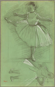 "Edgar Degas:Two Studies of Dancers,16x12""(A3)Poster"