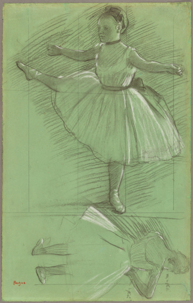Edgar Degas:Two Studies of Dancers,16x12