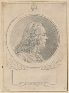 "Augustin de Saint-Aubin:Portrait of Voltaire, after His Bust,16x12""(A3)Poster"