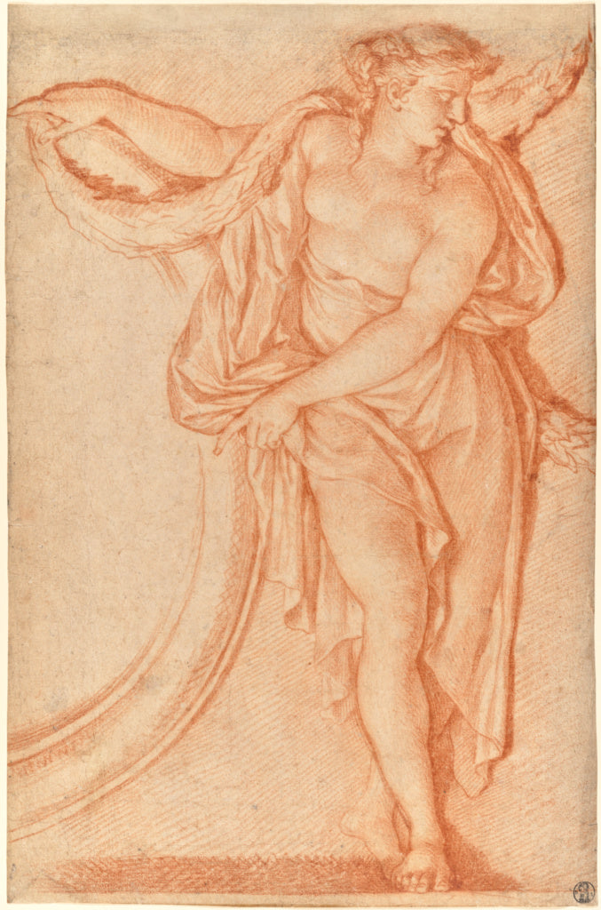 Michel DorignyAttributed to:Study for a Ceiling Decoration,16x12