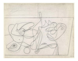 "Arshile Gorky - Study for Nighttime, Enigma and Nostalgia, 16x12"" (A3) Poster Print"