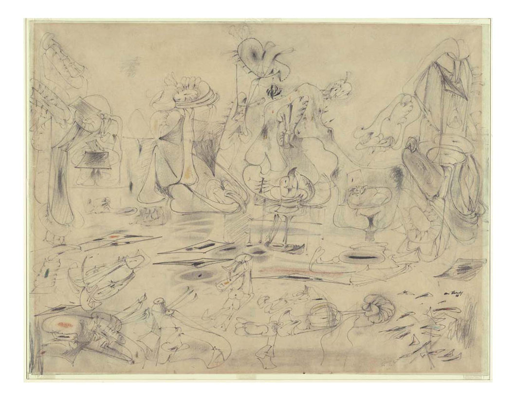 Arshile Gorky - Study for Summation, 16x12
