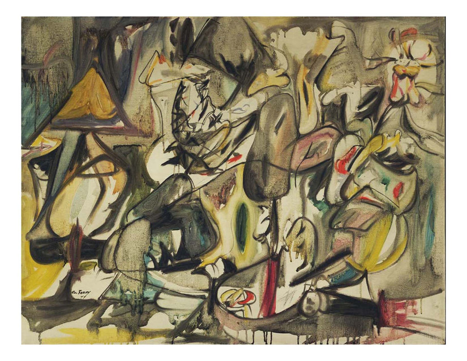 "Arshile Gorky - The Leaf of the Artichoke Is an Owl, 16x12"" (A3) Poster Print"