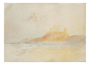 "Bamburgh Castle, Northumberland, 1837 by John Mallord William Turner RA, 12x8""(A4) Poster"
