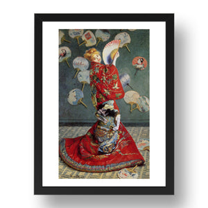 Claude Monet Madame Monet Japanese costume,  A4 size (8.27 × 11.69 inches) Poster