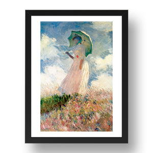 Claude Monet: Woman w Parasol (Artist's wife)  A4 size (8.27 × 11.69 inches) Poster