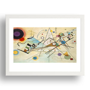 Composition VIII ( Komposition 8 ) 1923 by Wasilly Kandinsky,   Framed Art Poster