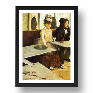 Edgar Degas The Absinthe Drinker 1876,  A4 size (8.27 × 11.69 inches) Poster