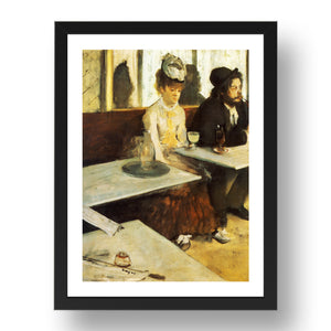 Edgar Degas: The Absinthe Drinker, 1876 Framed Art Poster Print