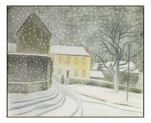 Halstead Road in Snow, 1935 by Eric Ravilious, A4 size (8.27 × 11.69 inches) Poster