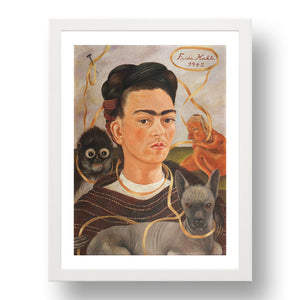 Frida Kahlo - Self-portrait with Small Monkey
