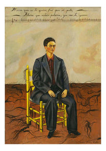 "Frida Kahlo - Self-Portrait with Cropped Hair, 16x12"" (A3) Poster Print"