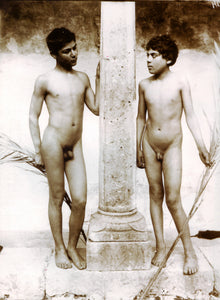 "Classic 19th century Italy male nudes image by Wilhelm von Gloeden, 16x12""(A3) Poster"