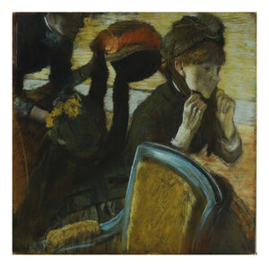"Hilaire-Germain-Edgar Degas - At the Milliner's, 16x12"" (A3) Poster Print"