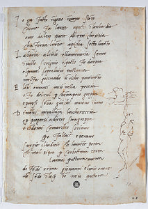"Sonnet ""To Giovanni da Pistoia"" and Caricature by Michelangelo,16x12""(A3)Poster"