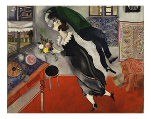 "Marc Chagall - Birthday, 16x12"" (A3) Poster Print"