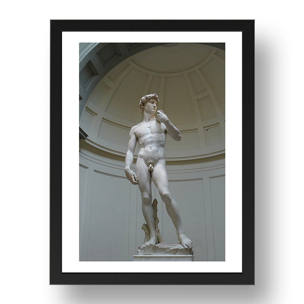 Michelangelo  - David [1504], A4 size (8.27 × 11.69 inches) Poster