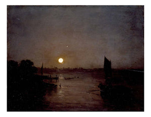 Moonlight, a Study at Millbank, 1797 by John Mallord William Turner RA
