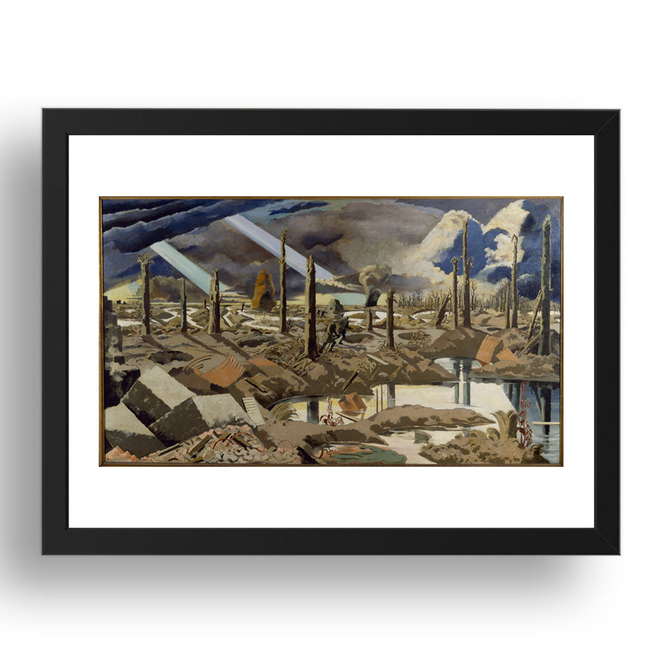 The Menin Road, Classic World War 1 Art by Paul Nash,   Framed Poster