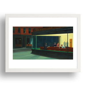 """Nighthawks' by Edward Hopper,  Framed Art Poster"