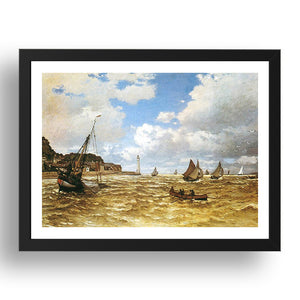 Claude Monet - Mouth Of The Seine At Honfleur [1865], A4 size (8.27 × 11.69 inches) Poster