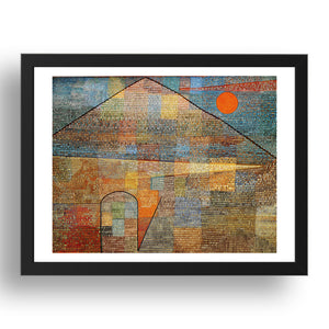 Paul Klee Ad Parnassum,  A4 size (8.27 × 11.69 inches) Poster