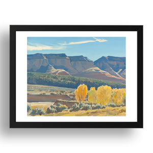 Peaceful Morning, Classic Western Landscape by Maynard Dixon,  Framed Art Poster