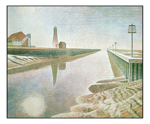 Rye-Harbour by Eric Ravilious, A4 size (8.27 × 11.69 inches) Poster