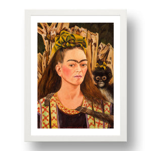 Self portrait with Monkey by Frida Kahlo