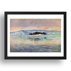 "Fjord, near Christiania, 1893 by Claude Monet,17x13""(A3) Frame"