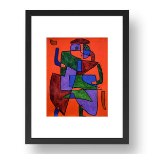 "The Future: Paul Klee 1933, 17x13""(A3) Black Frame"