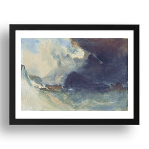 "The Mewstone, Devon by John Mallord William Turner RA, 17x13""(A3) Frame"