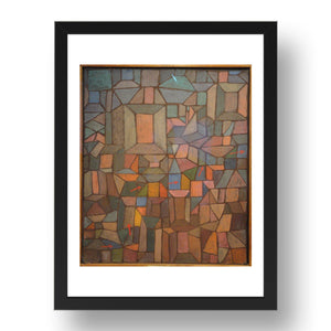 "The Way to the Citadel, Paul Klee, 1937, 17x13""(A3) Black Frame"
