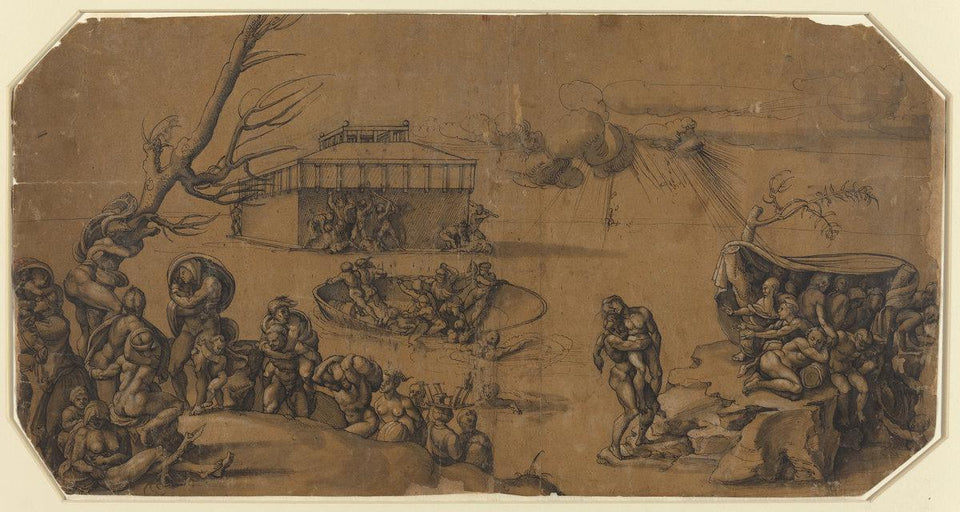 "Georg Pencz after Michelangelo:The Flood,16x12""(A3) Poster"