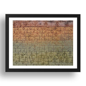 "Tree Nursery: Paul Klee, 1929, 17x13""(A3) Black Frame"