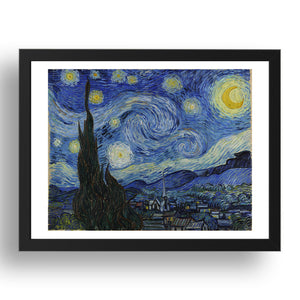 Willem van Gogh:   The Starry Night .  Framed Art Poster