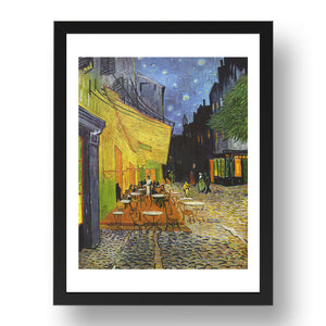Willem van Gogh:   Cafe Terrace at Night 1888 .  Framed Art Poster